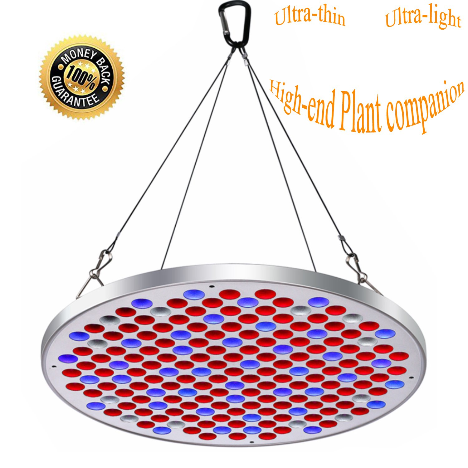 UFO LED Grow Light Panel 50W Grow Lamps Full Spectrum for seedlings Veg&Flowering with Big Chip Plant Light Indoor Plants Growing Light Bulbs with Swicth (50W)