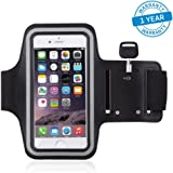Azacus Sports Adjustable Free Size Armband Mobile Holder with Hole for Your Earphone or Audio Wire(Black)