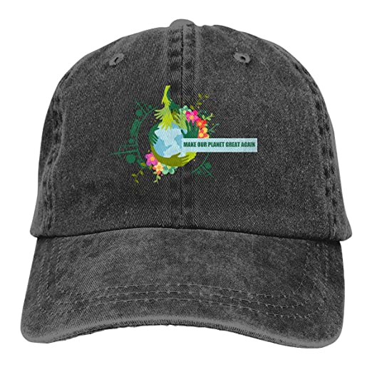 Make Our Planet Great Again Stop Global Warming Adult Cowboy Hat Baseball  Cap Adjustable Athletic Customized 1ac1128a785