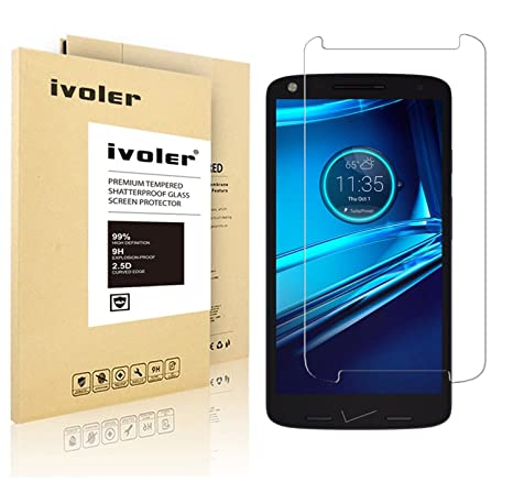 ivoler tempered glass screen protector for motorola droid turbo 2 verizon amazoncom tempered glass