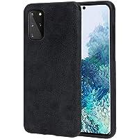 Etui Arrivly z zamszu i mikrofibry Do Samsung S20+ (6,7 cala) Czarny Zamsz Mikrofibra Silikonowa hybrydowa osłona…