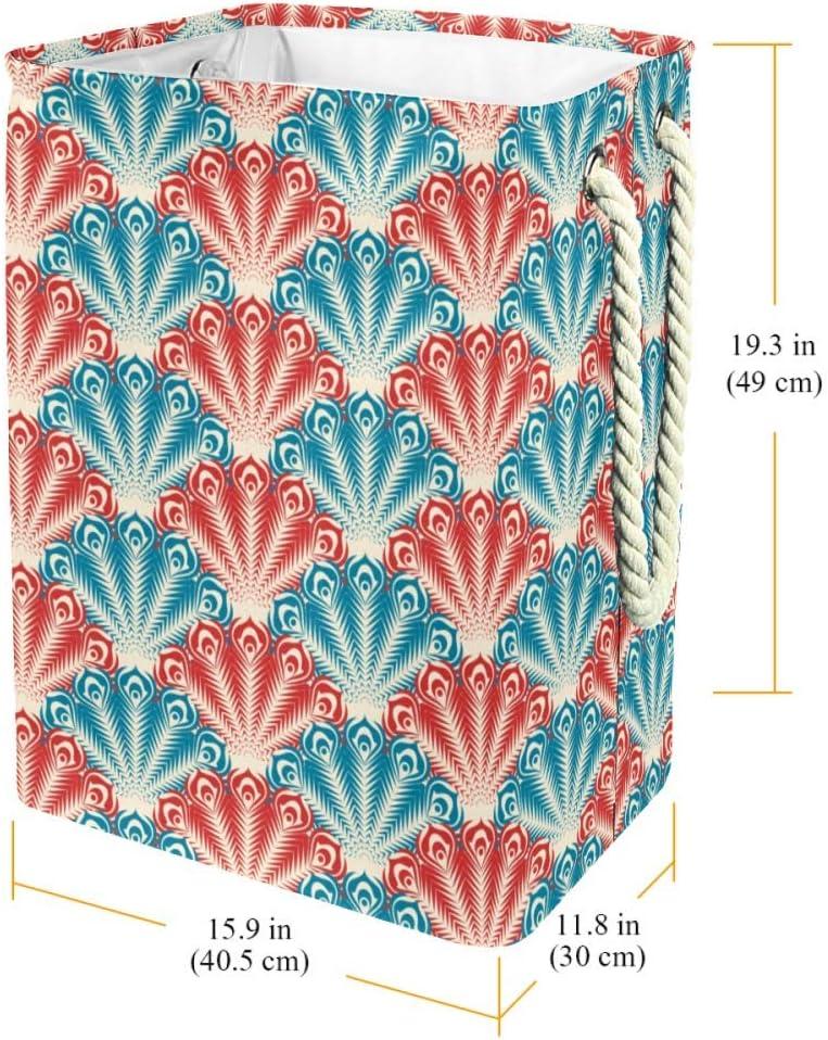 Indimization Feuilles Jaunes Sac à Linge Rectangle en Tissu Oxford avec poignées Panier de Rangement Haute capacité 49x30x40.5 cm Color9