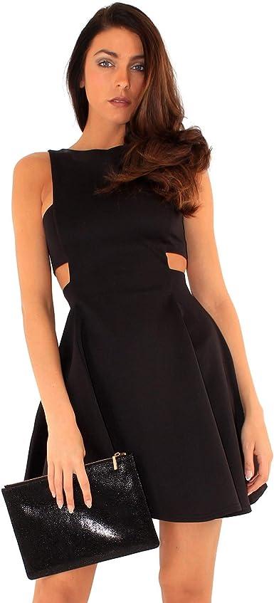 Women Sleeveless Cut out Skater Dress