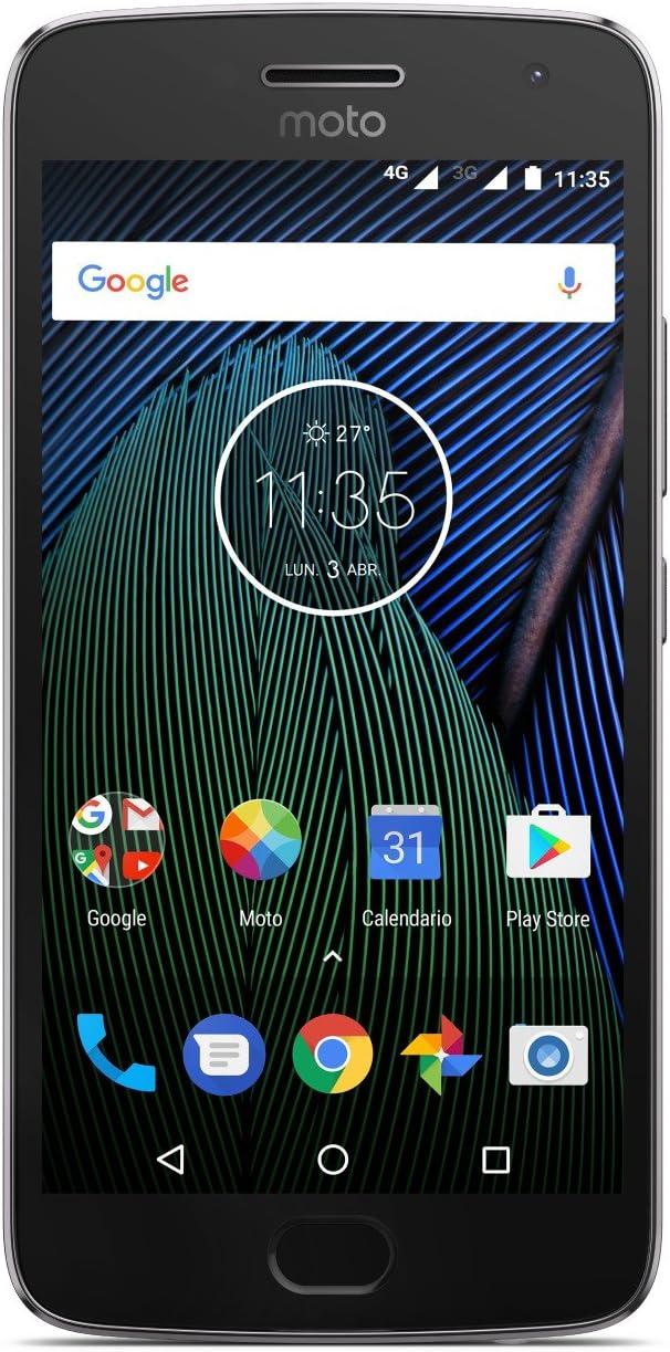 Moto G 5ª Generación Plus - Smartphone libre Android 7 (pantalla de 5.2 Full HD, 4 G, cámara de 12 MP Dual Pixel, 3 GB de RAM, 32 GB, Qualcomm Snapdragon 2.0 GHz), color gris: Amazon.es: Electrónica