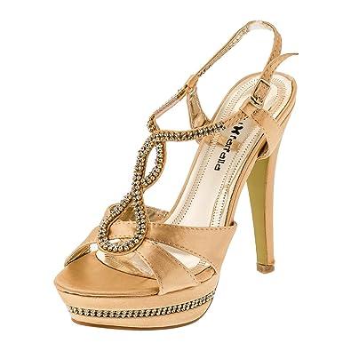 Damen Pumps High Heels Plateau Sandaletten Stiletto Freizeit Party Schuh Absatz in vielen Farben