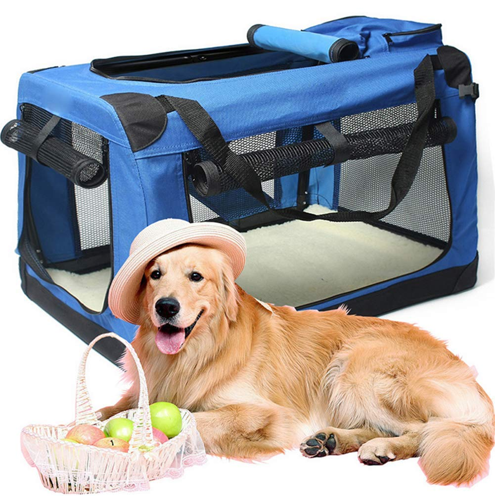 blue 604242cm blue 604242cm Out-of-The-Box Carrying case, pet Bag, Handbag, car Bag, Travel cage Folding, Dog cage