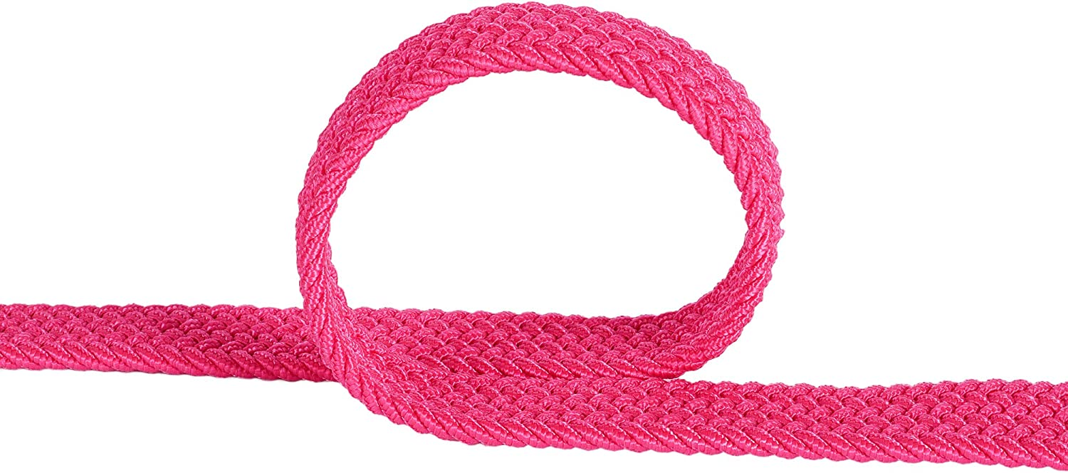 Junior Braided Stretch Elastic Belt |Pin Buckle Boys Girls PU Loop End Tip 5 Sizes 5 Colors 1 width