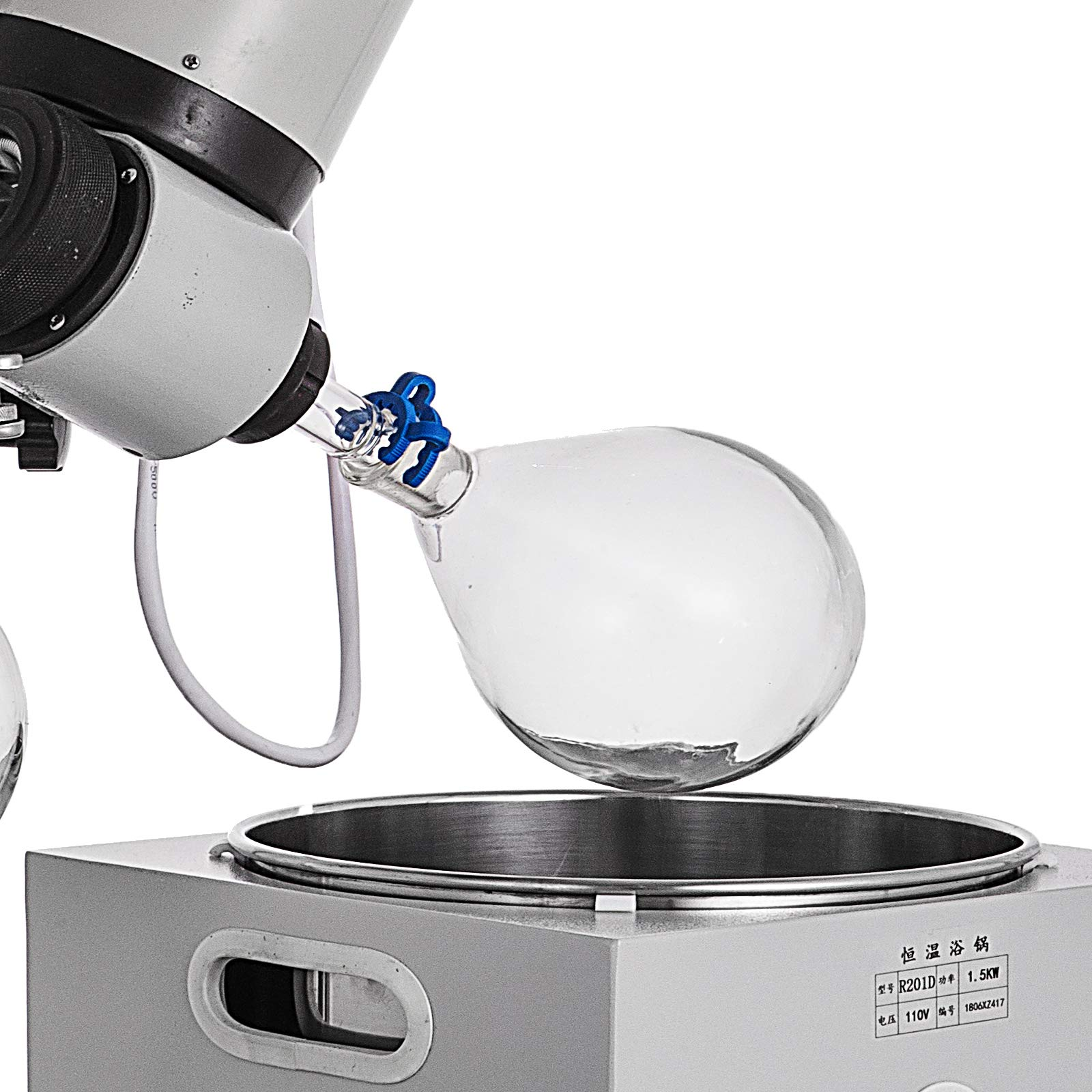 Mophorn 2L Rotary Evaporator R201D Lab Evaporator Rotary Evaporator Manual Lifting Rotavapor with LCD Screen 5-140rpm Professional Rotary Evaporator Set(2L, 5-140rpm) by Mophorn (Image #7)
