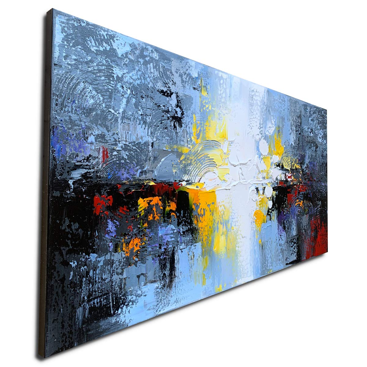 Hand Painted Textured 10D Oil Painting on Canvas Abstract Wall Art Landscape  Artwork