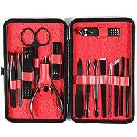 15 unids/set Nail Clipper Kit de Acero Inoxidable Profesional Pedicura Tijeras Pinza Cuchillo Oreja Juego de Manicura Nail Art Tools