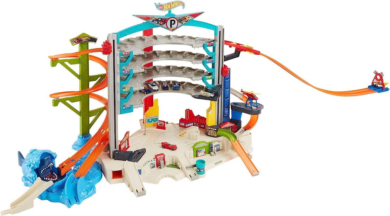 15cars Parking Lot Car Toy Set Puzzle Alloy Sliding Trolley Simulation Garage *