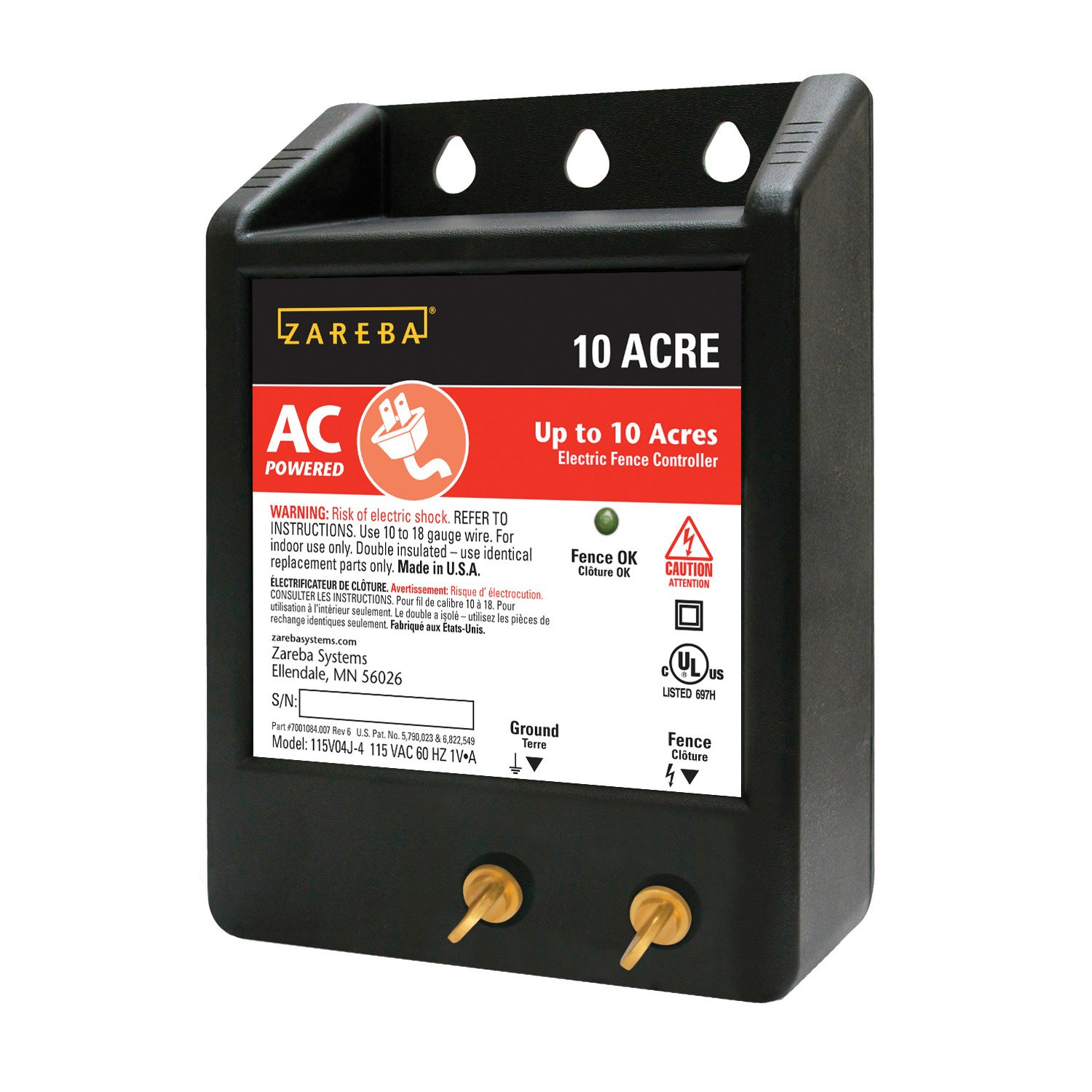 Amazon zareba 10 acre ac powered solid state fence charger amazon zareba 10 acre ac powered solid state fence charger livestock equipment garden outdoor sciox Choice Image