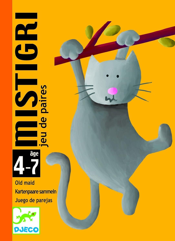 Djeco- Mistigri Juego de Cartas, Multicolor (DC5105)