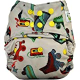 Sweet Pea Bamboo AIO Cloth Diaper, One Size, Roller Skate
