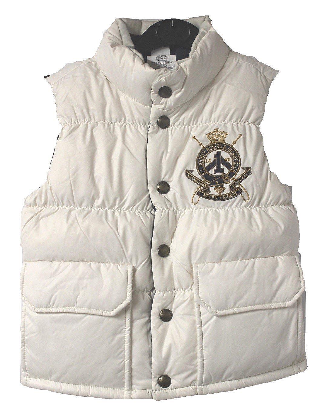 Polo_Ralph Lauren - Chaleco - para niña Blanco Blanco S: Amazon.es ...
