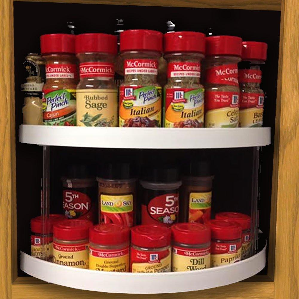 Amazon.com - Stow-n-Spin Kitchen Cabinet Storage Organizer 2-Tier ...