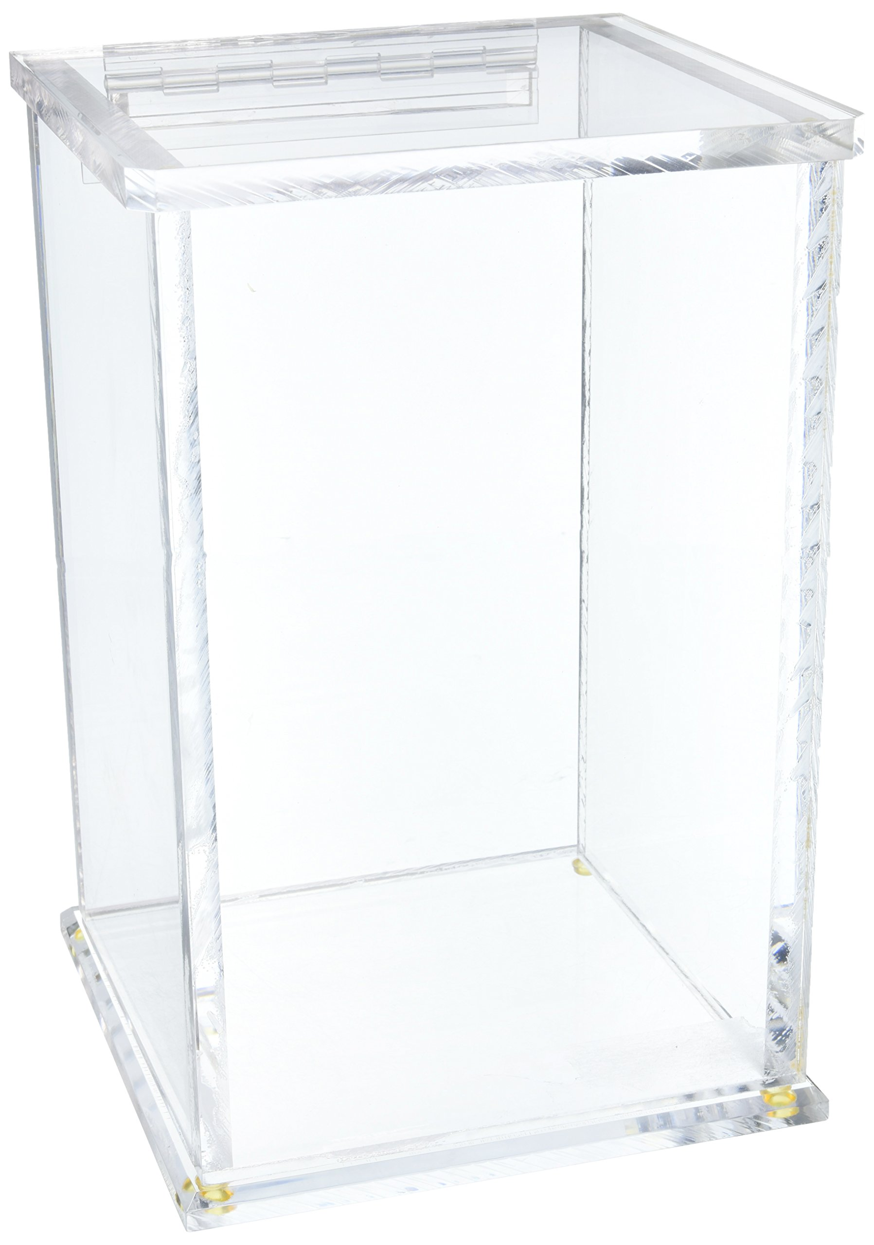 IBI Scientific WH-80 Beta-Gard Acrylic 1Gallon Jug Waste Container with Hinged Lid, 8-3/4'' Width x 13-1/4'' Height x 8-3/4'' Depth