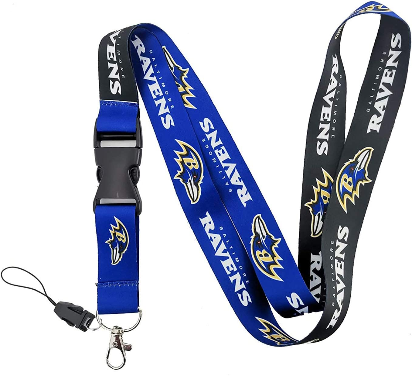 REP Your Team! ILNYXMM Football Fans Keychain Lanyard with Detachable Buckle