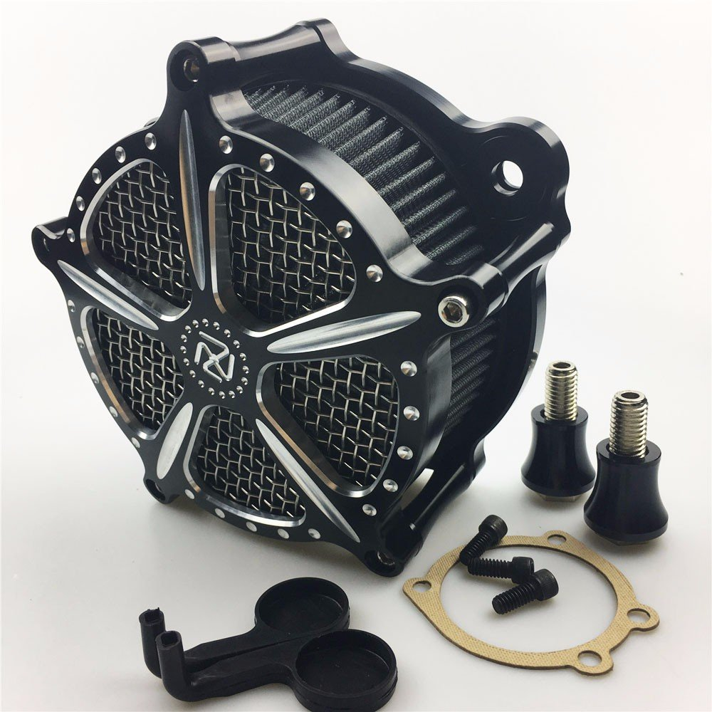 CNC Air intake Cleaner filter For Harley Sportster 1200 883 Forty Eight 91-16   B077QSSWYC