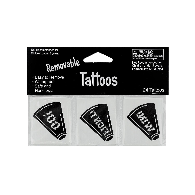 Kole Imports KK928 Removable black Cheer Tattoos