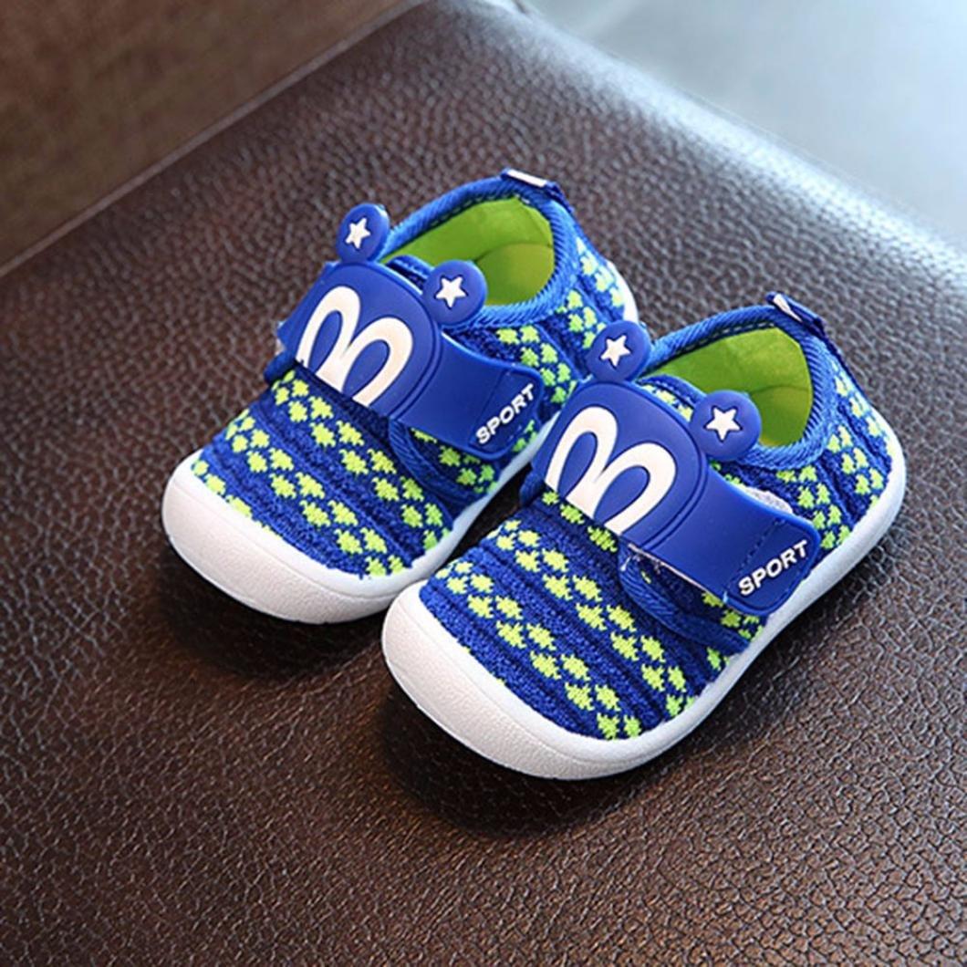 6edcb75ae88d2 Bonjouree Chaussures Souples Bebe Garçon Fille Squeaky Sneaker Chaussures  Premiers Pas d été  Amazon.fr  Chaussures et Sacs