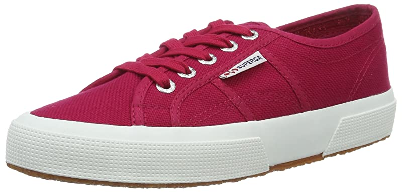 Superga 2750 Cotu Classic Sneakers Low-Top Unisex Damen Herren Kirschrot (Red Cerise)