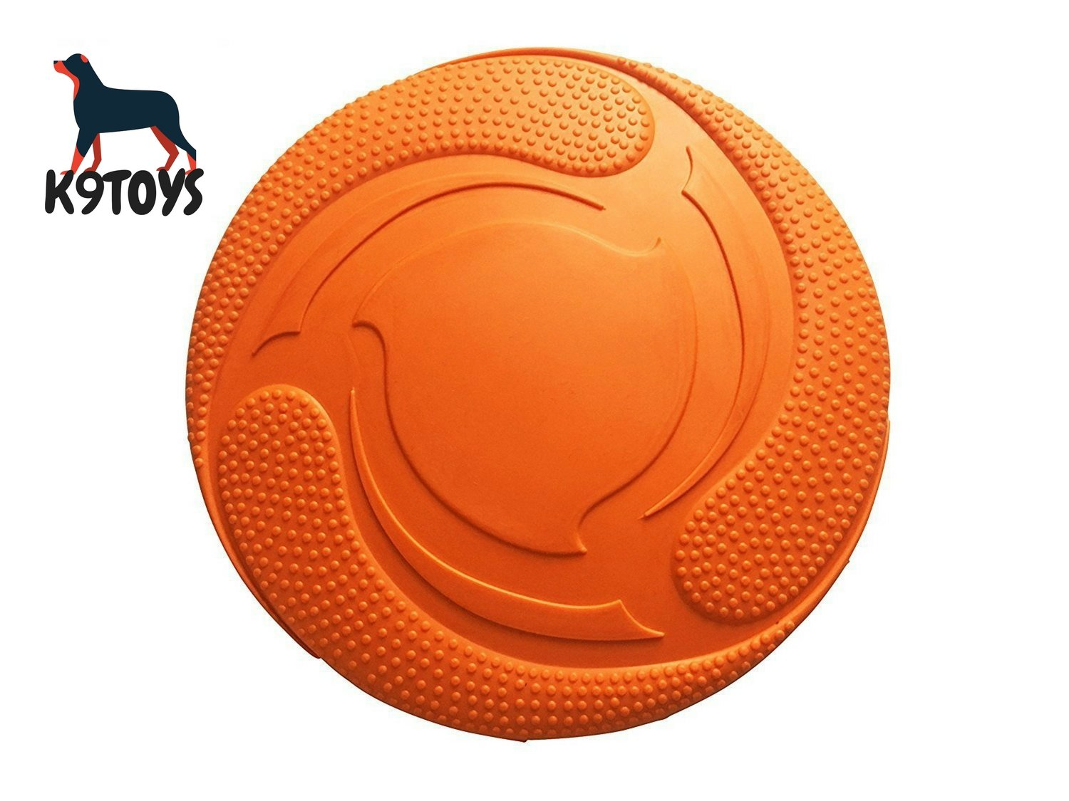 Durable Rubber Dog Frisbee - 100% Soft Natural Non-Toxic - Tough Rubber Training Frisbee - Flies Perfectly - Nearly Indestructible - High Grade, Strong Clean Chew Toy - Best Price for Better Quality