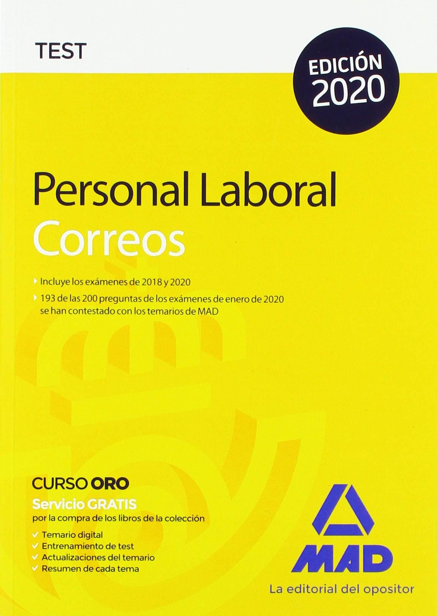Personal Laboral de Correos y Telégrafos. Test: Amazon.es: Guillén Gil, Luis Ignacio: Libros