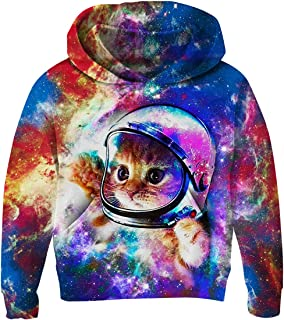 343d63aab UNICOMIDEA Unisex Sweatshirt Kids Hoodies 3D Print Pullover Clothes with  Pocket for 3-14T