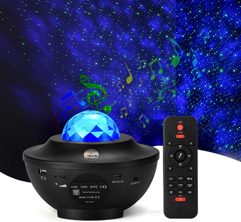 USB LED Sternenhimmel Projektor Lampe Bluetooth Musik Nachtlicht Leuchte Dekor ★