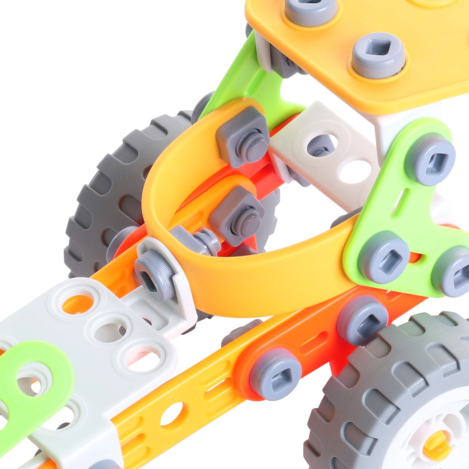 Driven by Friction Force Tutorial Toy for Kids(Rocket Sled) Tutorial Toy for Kids/(Rocket Sled/) Fondear Children/'s STEM Learning Toy Vehicle Building Brick Set Rocket Sled Building Set Creator Engineering Truck Toy