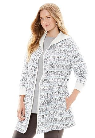 Woman Within Women's Plus Size Fleece Cardigan at Amazon Women's ...