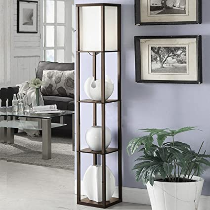 TangMengYun Lámpara de pie de madera moderna, lámpara ...