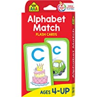 School Zone - Alphabet Match Flash Cards - Ages 4 and Up, Preschool to Kindergarten, ABC's, Letters, Matching, Beginning…