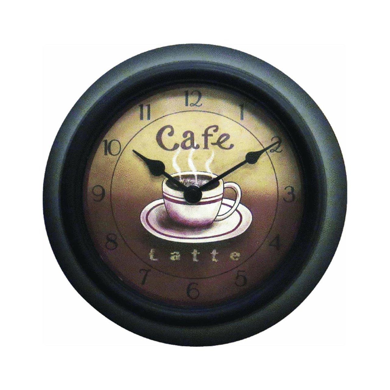 Geneva Clock Co 8125 Cafe Plastic Wall Clock 9 inch