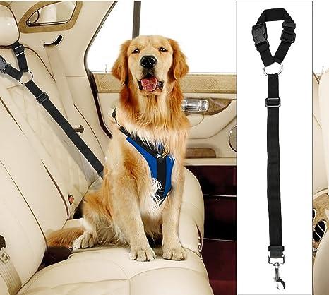 Docamor Cinturón de Seguridad Ajustable para Perro, arnés para ...