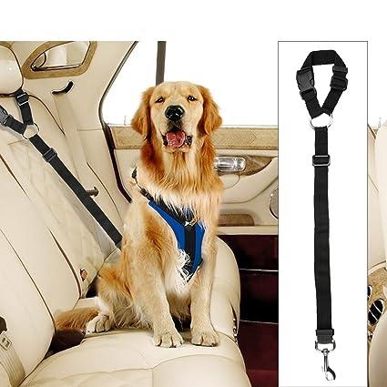 Amazon Com Docamor Adjustable Pet Dog Cat Car Seat Belt Strap