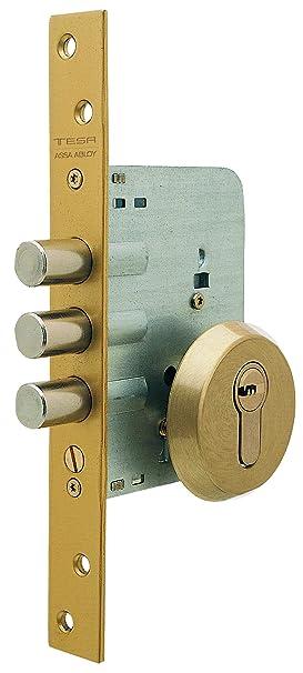 Tesa Assa Abloy R101B566E Cerradura Monopunto de Seguridad para Puertas de Madera Cromado Cil. 30x30mm: Amazon.es: Bricolaje y herramientas