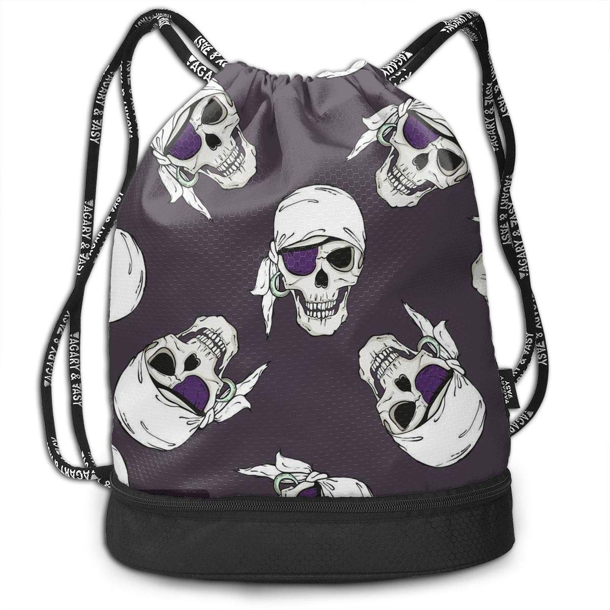 Amazon.com  Drawstring Bag Purple Pirate Skull Womens Gym Backpack Designer Mens  Travel Canvas Bags for Girls  Health   Personal Care f19a78970b