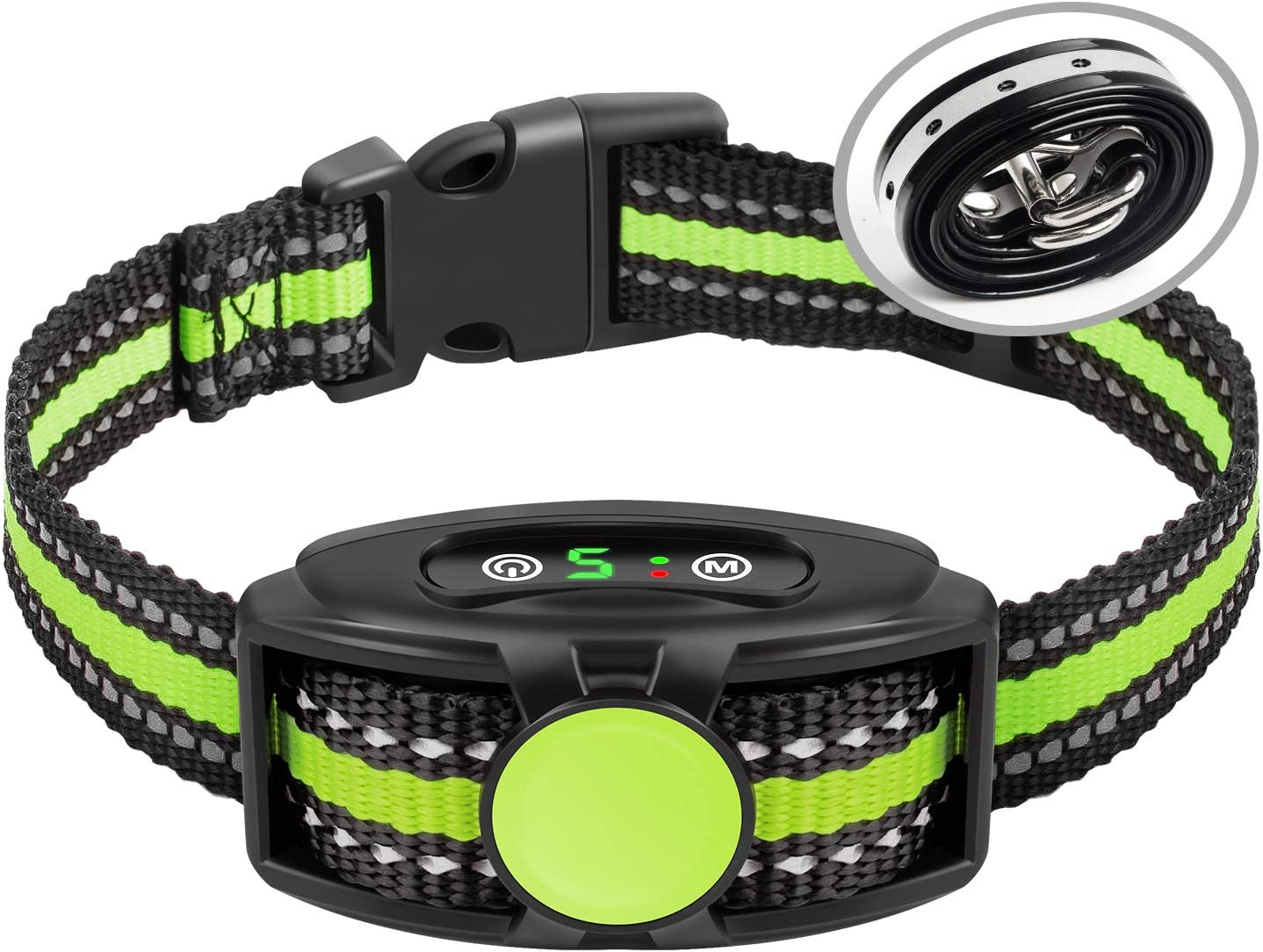 Bark Collar No Shock Bark Collar Rechargeable Bark Collar Shockless with Adjustable Sensitivity and Intensity Beep No Pain Vibration Barking Control Device Bark Collar for Small Medium Large Dogs : Kitchen & Dining