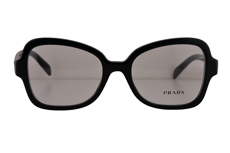 Prada PR25SV Eyeglasses 5118135 Shiny Black w Demo Clear Lens 1AB1O1 VPR25S For Women (FRAME ONLY)