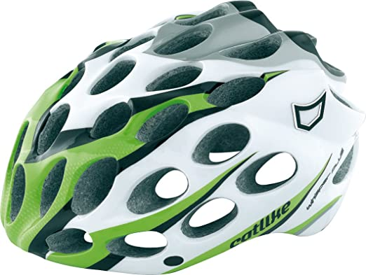 Catlike Whisper Plus - Casco de ciclismo verde Green/Black/White/Silver Talla