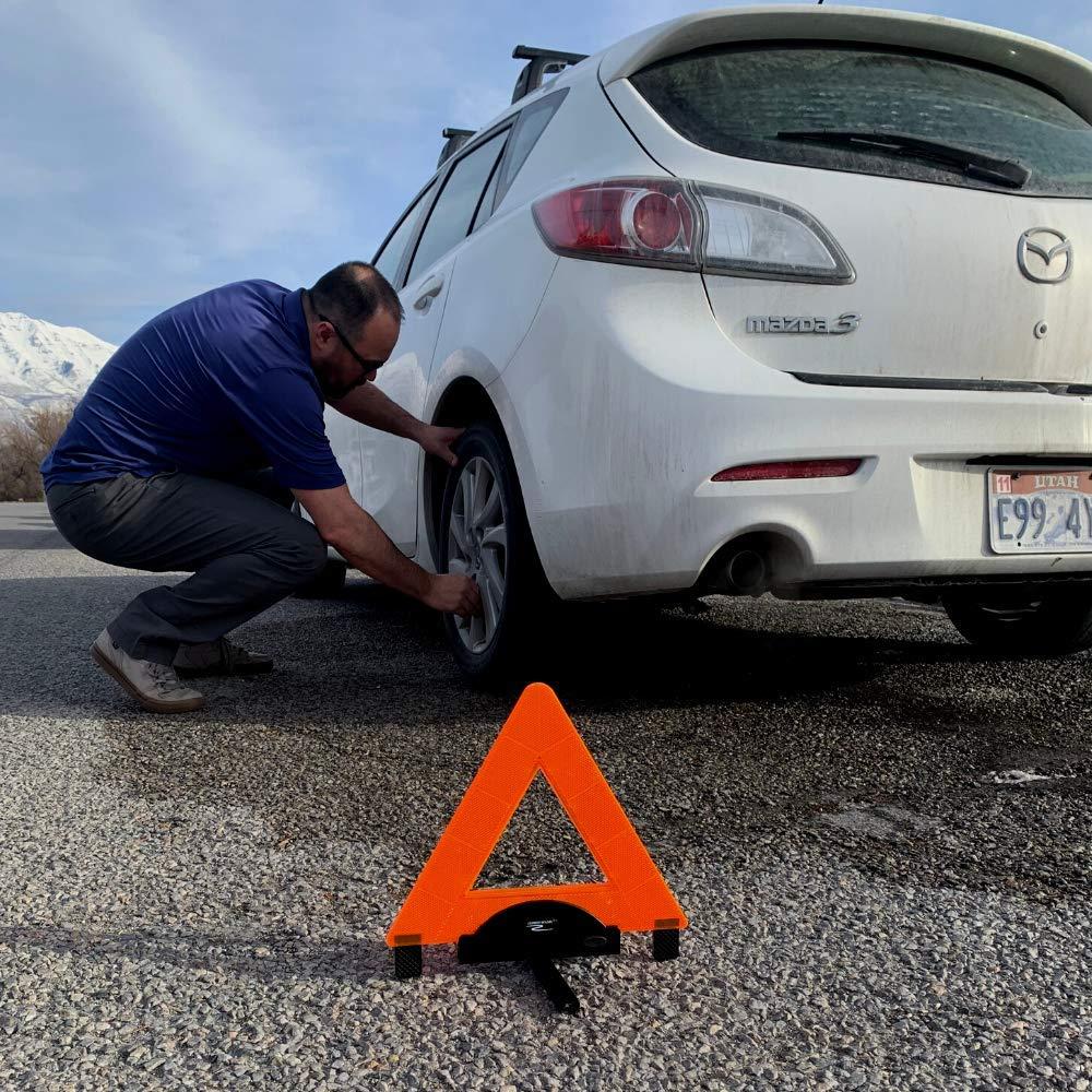 Durable Quality Orange Triangle Warning Triangle Emergency Reflective Road Safety Lumen