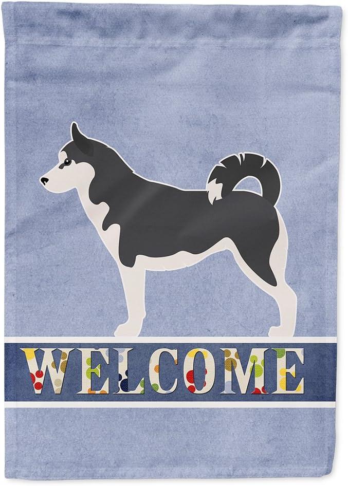 Caroline's Treasures BB5584GF Siberian Husky Garden Size Welcome Flag, Small, Multicolor