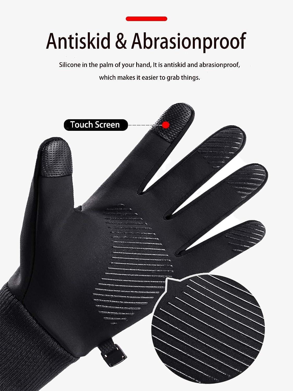 Nessuno Marca Uomini Donne Inverno Caldo Antivento Impermeabile Termico Touch Screen Guanti per Ciclismo Esecuzione Escursionismo Arrampicata