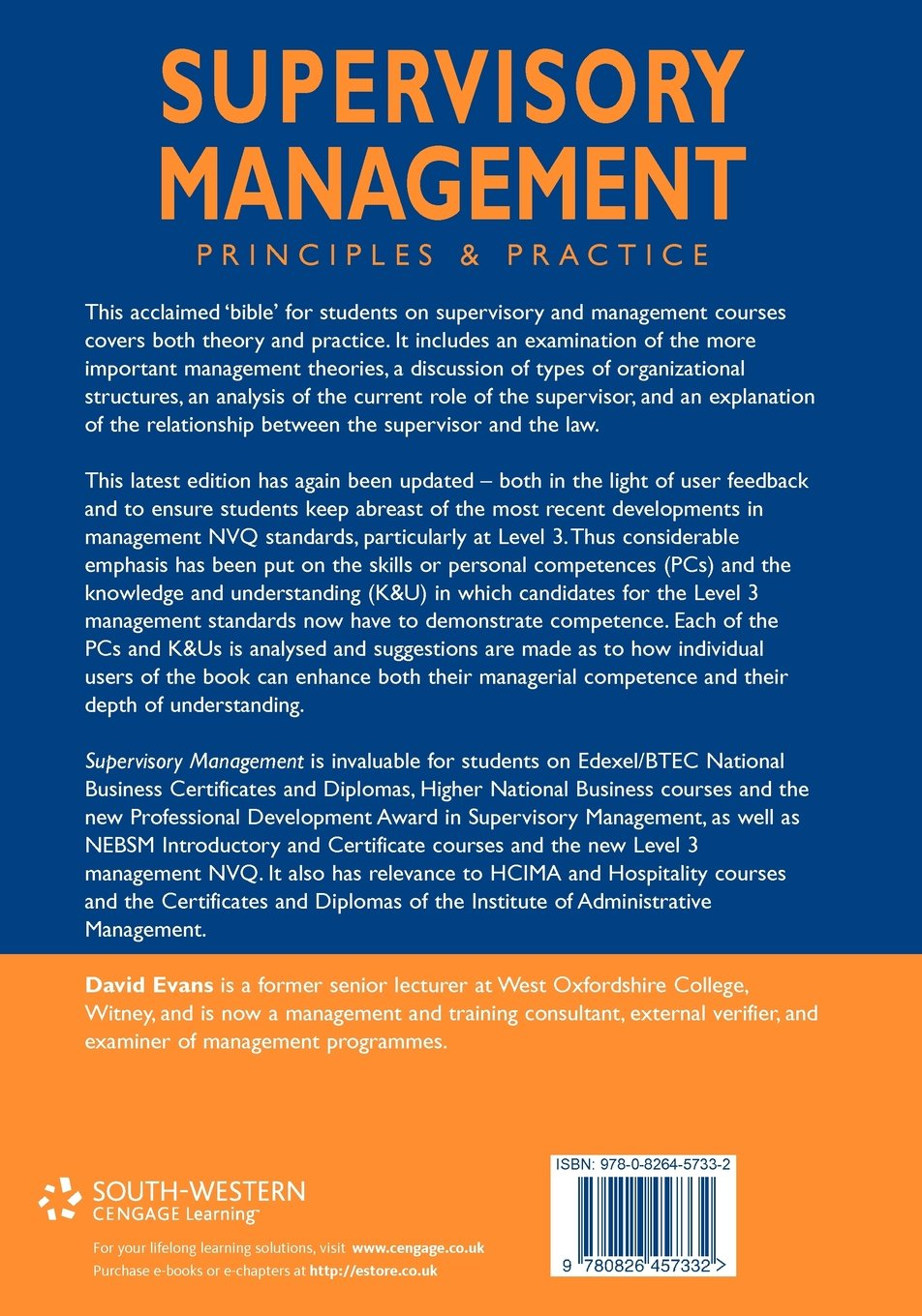 amazon supervisory management principles and practice dave
