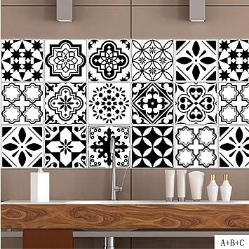 Jy Art T Stickers Muraux Carrelage Noir Et Blanc Coller