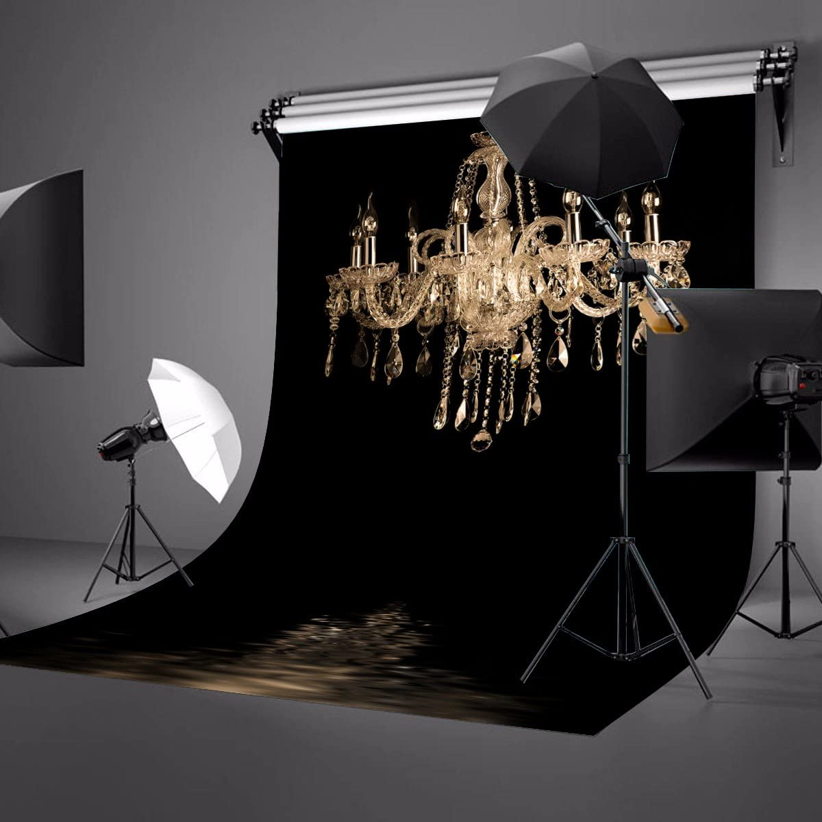 Lyly County 5/×7ft Chandelier Party Decoration Customized Photography Backdrop Background Studio Photo Props BG888