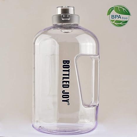 Amazon.com: BoTTLED JOY - Botella de agua con tapa y asa de ...