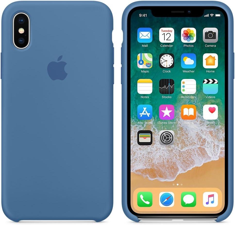 El /último Verano Funda iPhone X Azul Cobalto Slim L/íquido de Silicona Gel Carcasa Anti-Rasgu/ño y Resistente Huellas Dactilares Totalmente Protectora Caso Cover Case para iPhone X 5.8